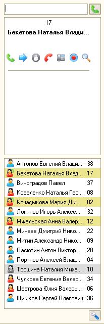 Панель телефонии Asterisk для 1C